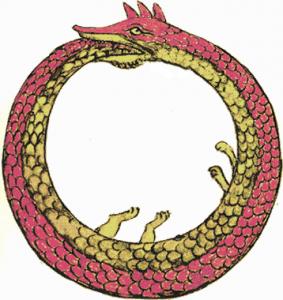 slang die in zijn staart bijt
